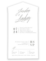 Stacked date All-in-One Wedding Invitations