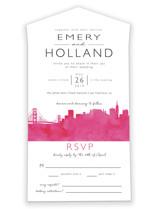 Skyline San Francisco Wedding Invitations All-in-One Wedding Invitations