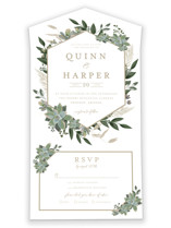 Succulent Surround All-in-One Wedding Invitations