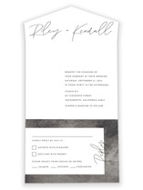 printed All-in-One Wedding Invitations