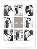 Joie Grid Wedding Announcements