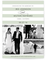 Striped Gallery Wedding Announcements