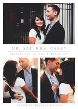 The Simple Things Wedding Announcements