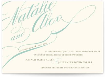 Winter Flourish Wedding Announcements