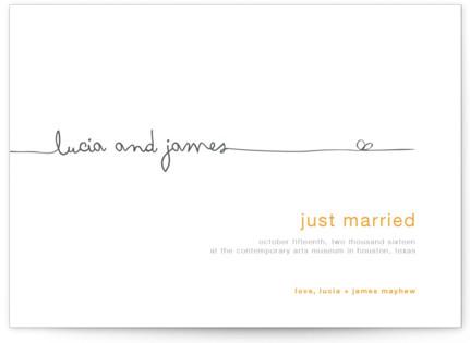 The Happy Couple Wedding Announcements