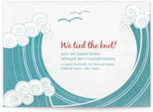 BLOCK PRINT WAVES Wedding Announcements