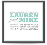 Cocktail Hour Wedding Announcements