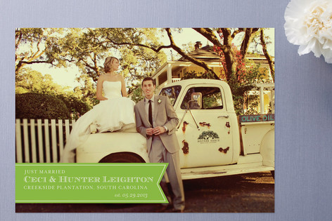 Ribbon Banner Wedding Announcements