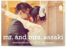 Happy Everything Wedding Announcements