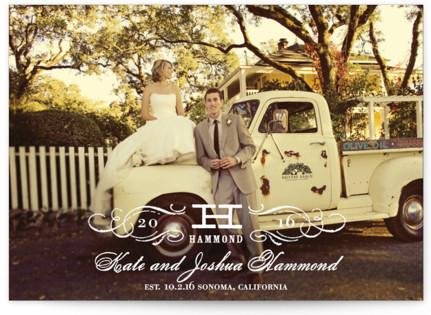 Vintage Wedding Announcements