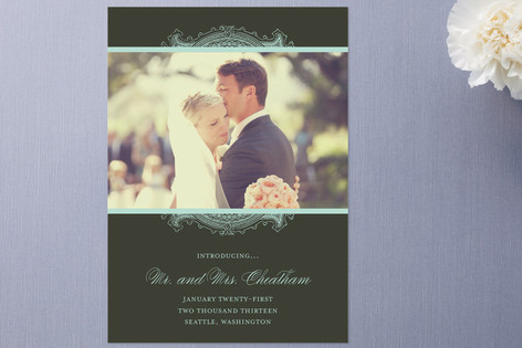 Ornate Frame Wedding Announcements