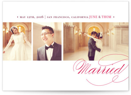 Love & Happiness Wedding Announcements