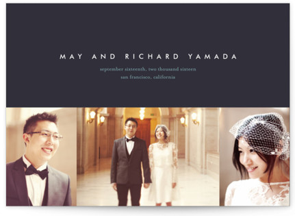 High Style Wedding Announcements