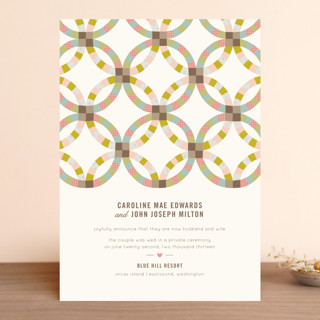 Quilted Wedding Announcements