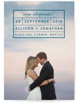 Light and Airy Wedding Announcements