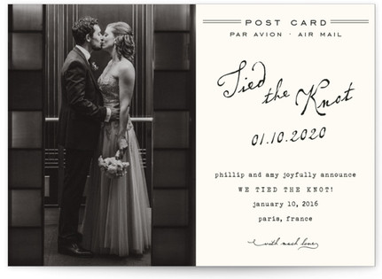 Airmail Wedding Announcement Postcards