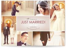 Bowtie Wedding Announcement Postcards