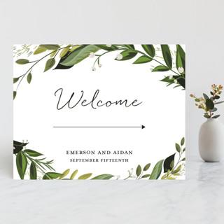Vines of Green Large Custom Wedding Sign