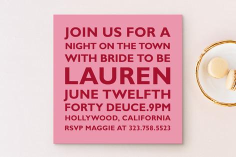 Block Bachelorette Party Invitations