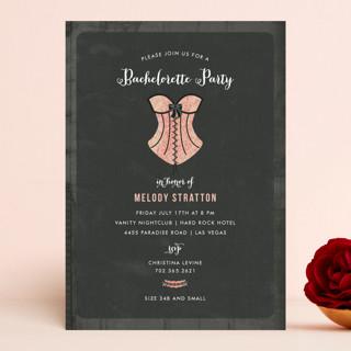 Corset Bachelorette Party Invitations