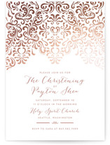 Black Tie Foil-Pressed Baptism and Christening Invitations