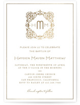 Eventide Foil-Pressed Baptism and Christening Invitations
