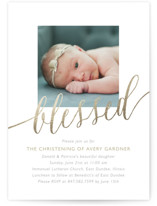 Blessed Baby Foil-Pressed Baptism and Christening Invitations