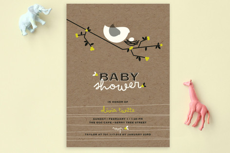 Nesting Bird Baby Shower Postcards
