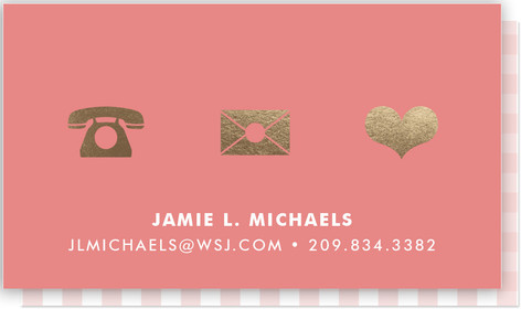 Icons Foil-Pressed Business Cards