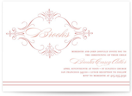 French Vintage Baptism and Christening Invitations