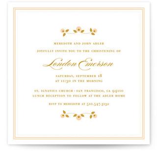 Petite Fleur Baptism and Christening Invitations