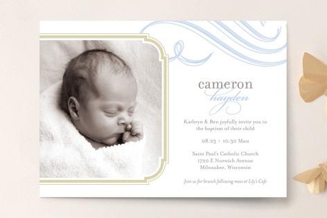 Cloud Nine Baptism & Christening Announcements