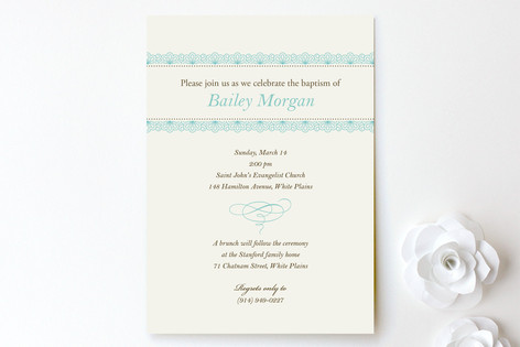Delicate Lace Baptism & Christening Announcements