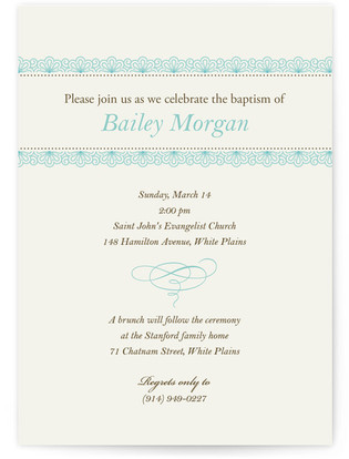 Delicate Lace Baptism and Christening Invitations