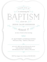 Delicate Baptism & Christening Announcements