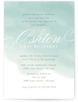 Water Wash Baptism & Christening Announcements