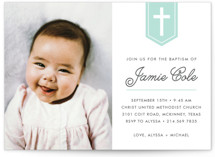 Delicate Cross Baptism & Christening Announcements