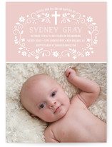Girly Swirls Baptism & Christening Announcements