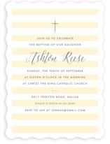 Sleek Baptism & Christening Announcements