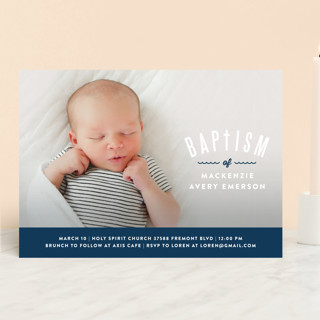 Waves Overlay Baptism & Christening Announcements