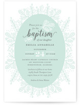 Whimsical Wreath Baptism & Christening Announcements