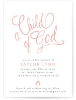 Child Of God Baptism & Christening Announcements