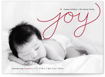 Flowing Joy Holiday Birth Announcements