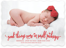 Small Packages Holiday Birth Announcements