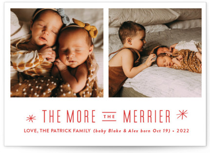 The More, the Merrier Holiday Birth Announcements