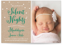 Well, There Go Our Silent Nights Holiday Birth Announcements