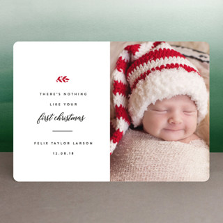 Christmas Baby Holiday Birth Announcements