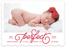The Perfect Gift Holiday Birth Announcements