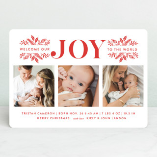 Welcome Our Joy Holiday Birth Announcements