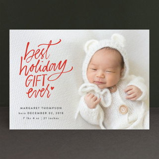 Best Holiday Holiday Birth Announcements